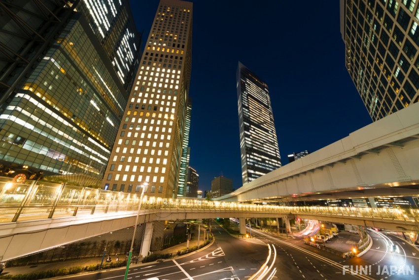 Lunch and dinner in Shiodome Sky Restaurant