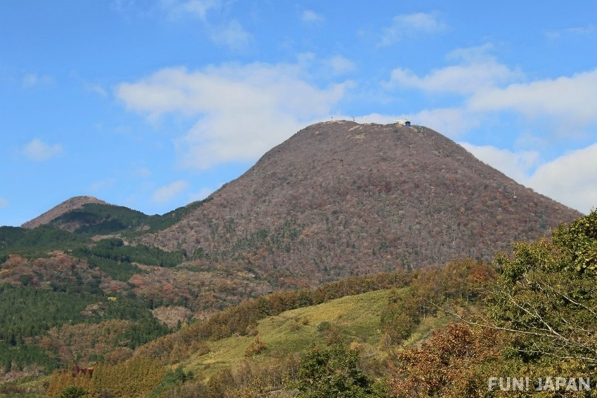 The Magnificent View of Mount Tsurumi in Oita, Japan