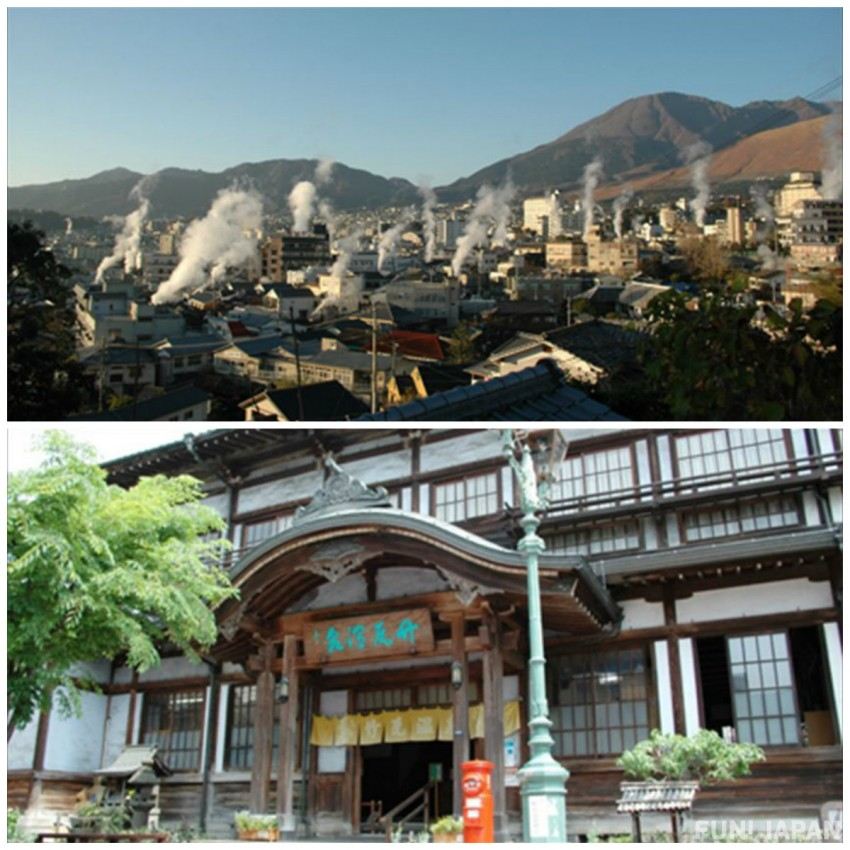 Make sure to visit the steam-enveloped Beppu Onsen if you go to Kyushu in Japan!