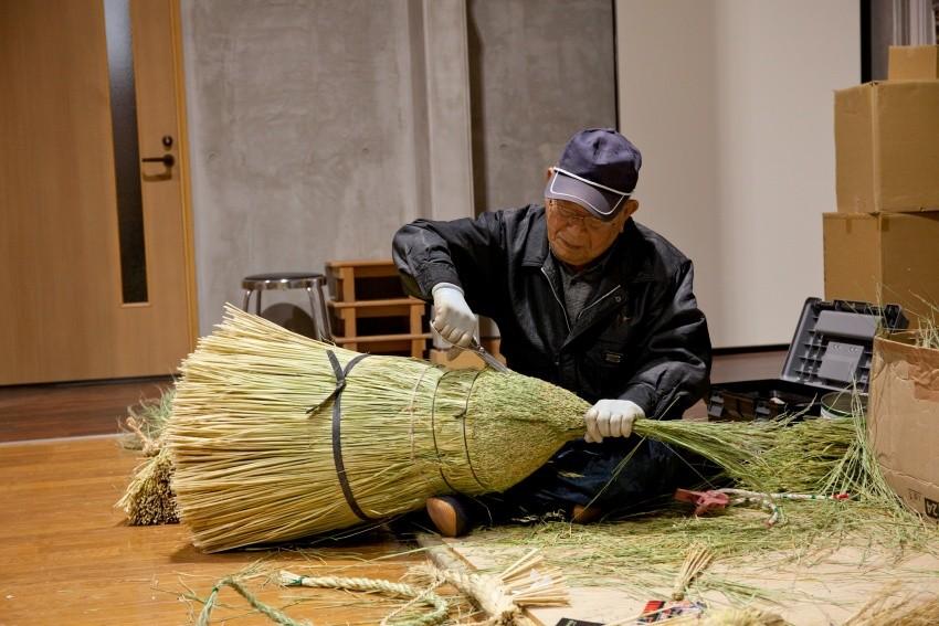 在「飯南町大注連繩創作館」可見到職人精湛手藝
