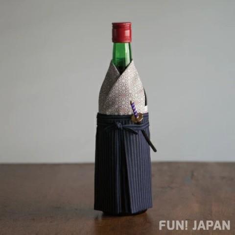 酒瓶也要衣裝 和服套酒瓶成帥氣日本武士!和服酒瓶套(武士)【0212-21】
